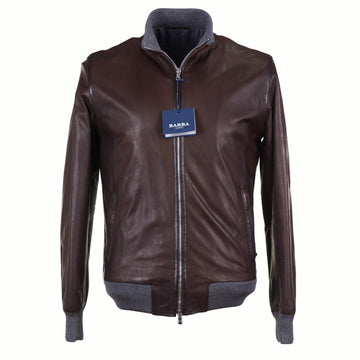 Barba Napoli Lambskin Leather Bomber Jacket - Top Shelf Apparel