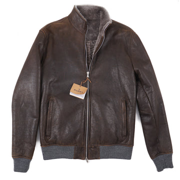 Barba Napoli Shearling Leather Jacket
