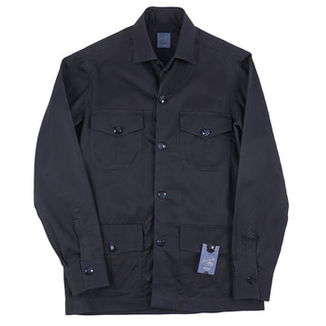 Barba Napoli Twill Cotton Shirt-Jacket