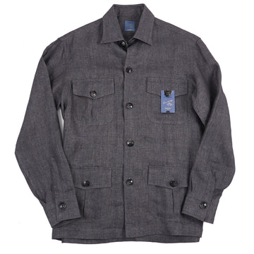 Barba Napoli Twill Linen Shirt-Jacket