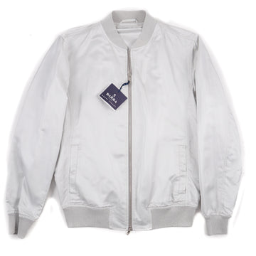 Barba Napoli Lightweight Silk Bomber Jacket
