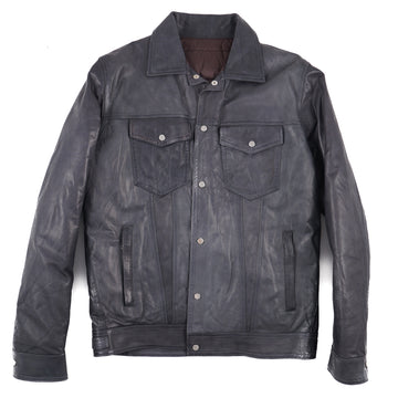 Barba Leather Jacket with Down-Filled Lining