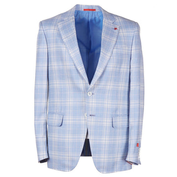 Isaia Layered Check Wool-Cashmere-Silk Sport Coat - Top Shelf Apparel