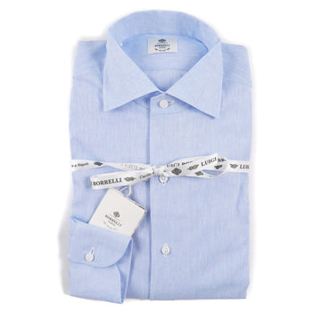 Luigi Borrelli Linen and Cotton Dress Shirt - Top Shelf Apparel