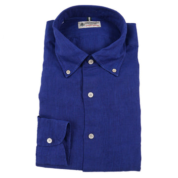Luigi Borrelli Button-Front Linen Shirt - Top Shelf Apparel