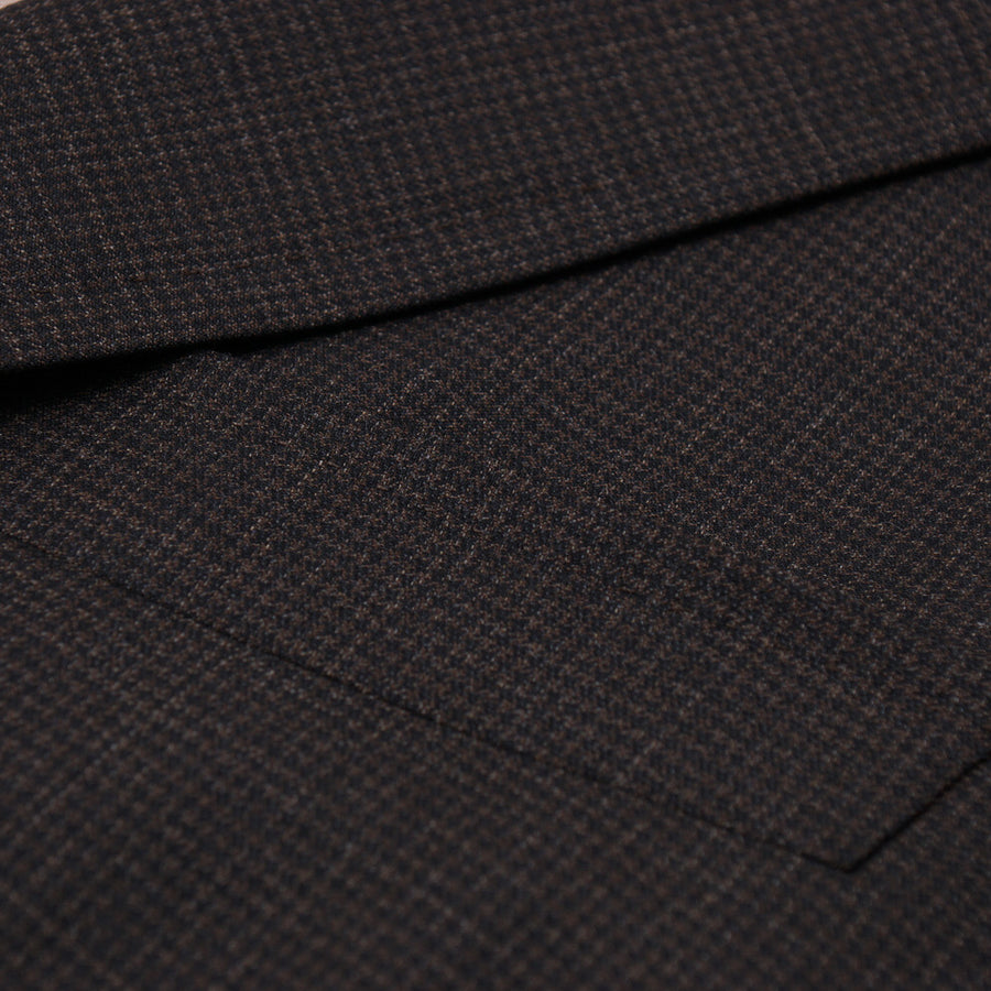 Isaia Houndstooth Check Wool Suit