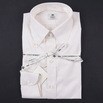 Luigi Borrelli Regular-Fit Cotton Dress Shirt