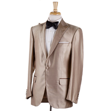 Brioni Gold Twill Silk Dinner Jacket