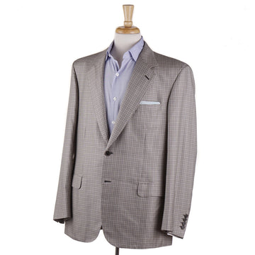Brioni Brown Check Lightweight Silk Sport Coat