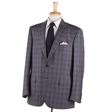 Brioni Gray Check Wool-Mohair-Silk Suit