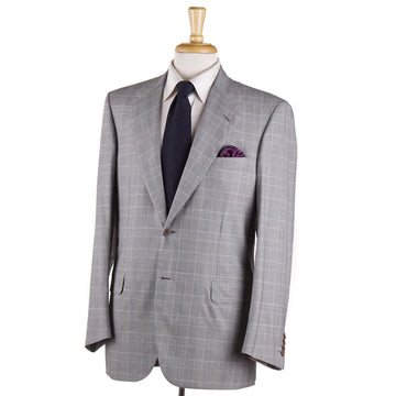 Brioni Gray Glen Plaid Super 180s Suit