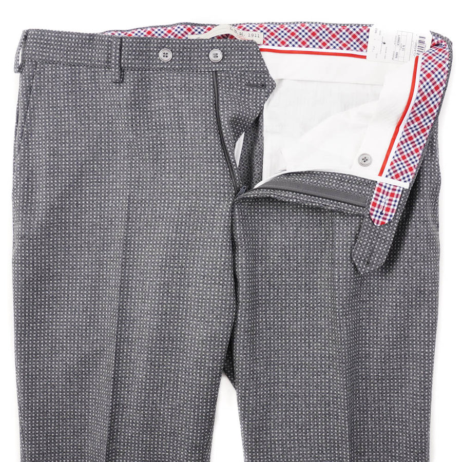 L.B.M. 1911 Gray Patterned Wool Pants