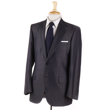 Brioni Dark Gray Stripe Wool and Silk Suit