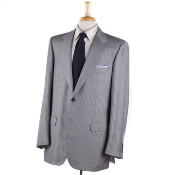 Brioni Light Gray Stripe Wool and Silk Suit