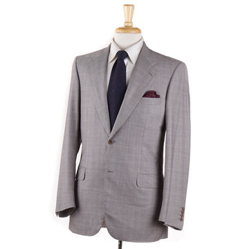 Brioni Light Gray Check Super 180s Suit