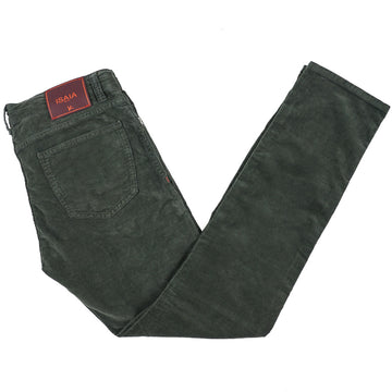 Isaia Washed Corduroy Cotton Jeans