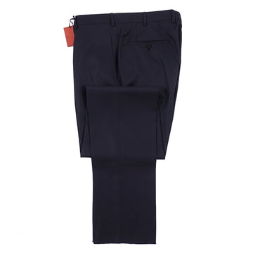 Isaia Regular-Fit Aquaspider Wool Dress Pants