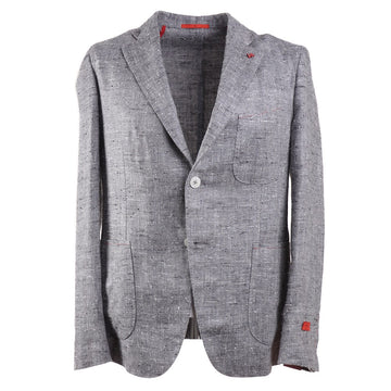 Isaia Soft Constructed Silk-Linen Sport Coat