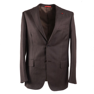 Isaia Woven Wool and Linen Suit