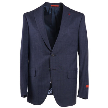 Isaia Slate Blue Striped Wool Suit