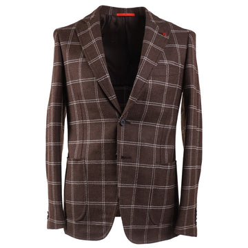 Isaia Slim-Fit Windowpane Sport Coat