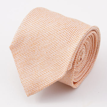 Cesare Attolini Coral Orange Woven Silk Tie