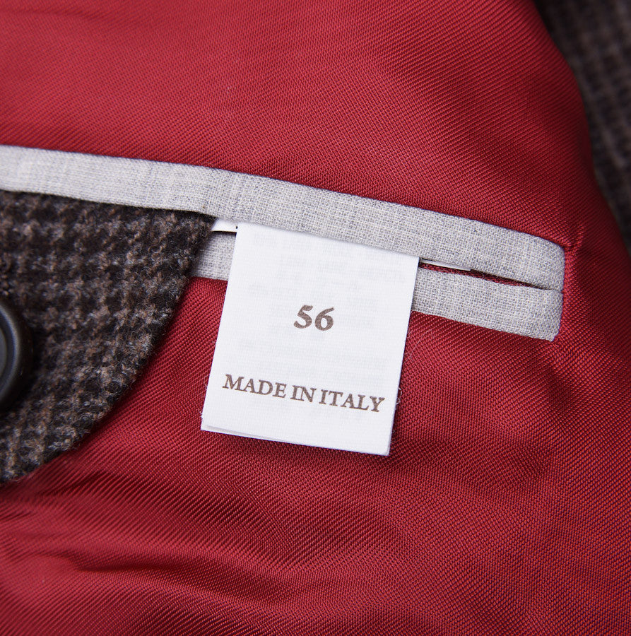 Brunello Cucinelli Brown Check Suit Eu 56/US 46 - Top Shelf Apparel - 10