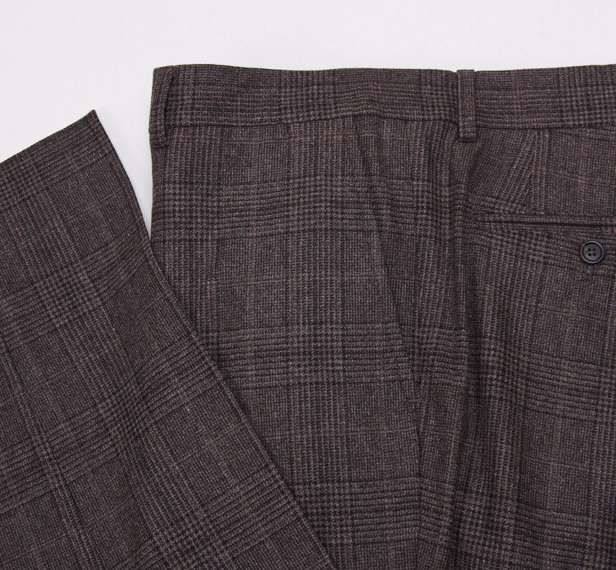 Brunello Cucinelli Brown Check Suit Eu 56/US 46 - Top Shelf Apparel - 15