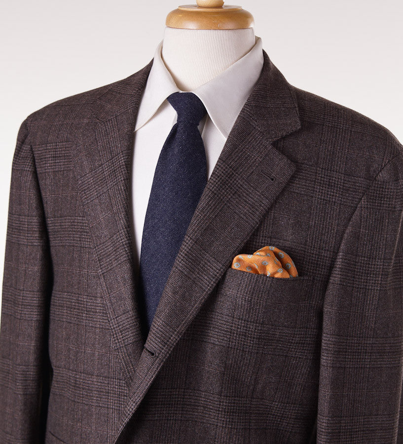 Brunello Cucinelli Brown Check Suit Eu 56/US 46 - Top Shelf Apparel - 2