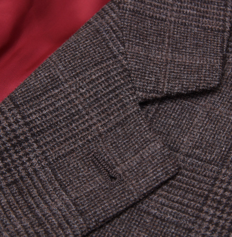 Brunello Cucinelli Brown Check Suit Eu 56/US 46 - Top Shelf Apparel - 4