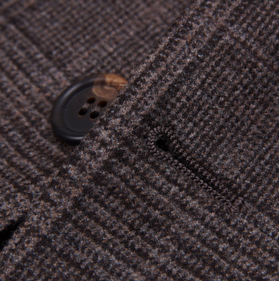 Brunello Cucinelli Brown Check Suit Eu 56/US 46 - Top Shelf Apparel - 7
