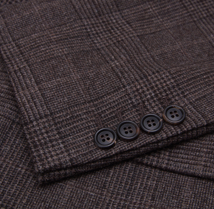 Brunello Cucinelli Brown Check Suit Eu 56/US 46 - Top Shelf Apparel - 8