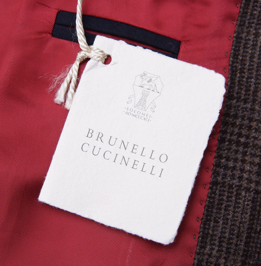 Brunello Cucinelli Brown Check Suit Eu 56/US 46 - Top Shelf Apparel - 9