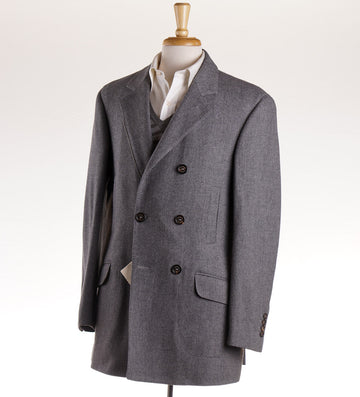 Brunello Cucinelli Gray Wool-Cashmere Coat