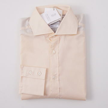 Brunello Cucinelli Peach Pink Cotton Shirt