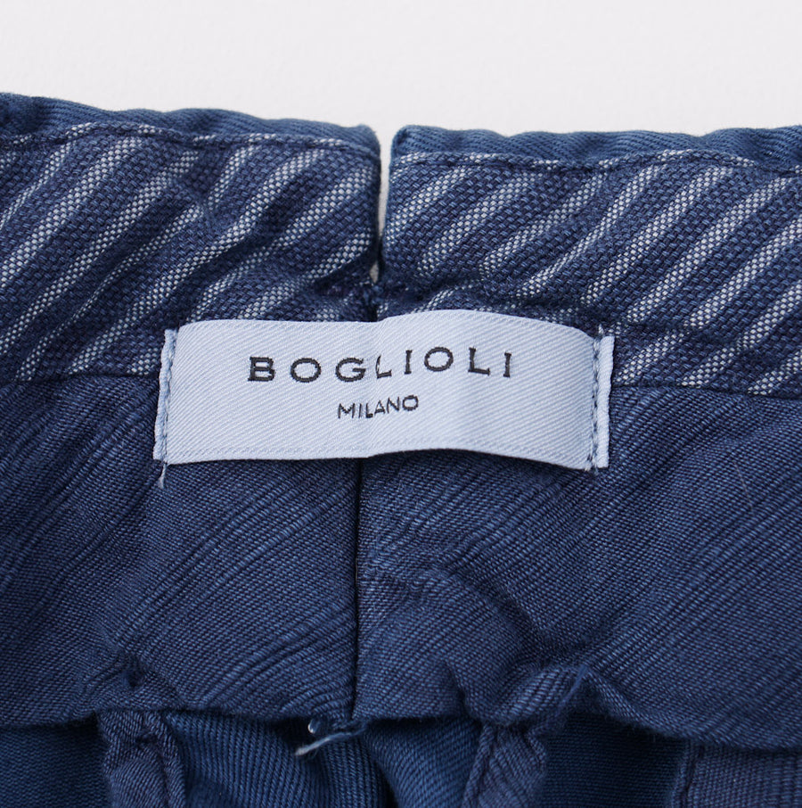 Boglioli Blue Slim-Fit Cotton Chinos - Top Shelf Apparel