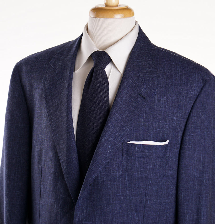 Brunello Cucinelli Melange Wool Silk and Linen Suit