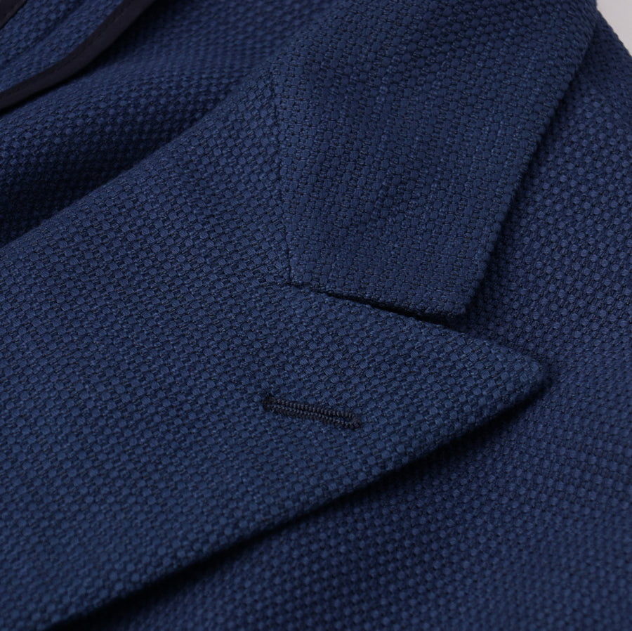 Belvest Navy Cotton Double-Breasted Sport Coat - Top Shelf Apparel