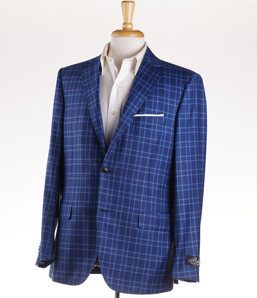 Belvest Bright Blue Check Wool Sport Coat - Top Shelf Apparel