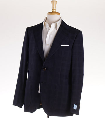 Belvest Midnight Blue Check Sport Coat
