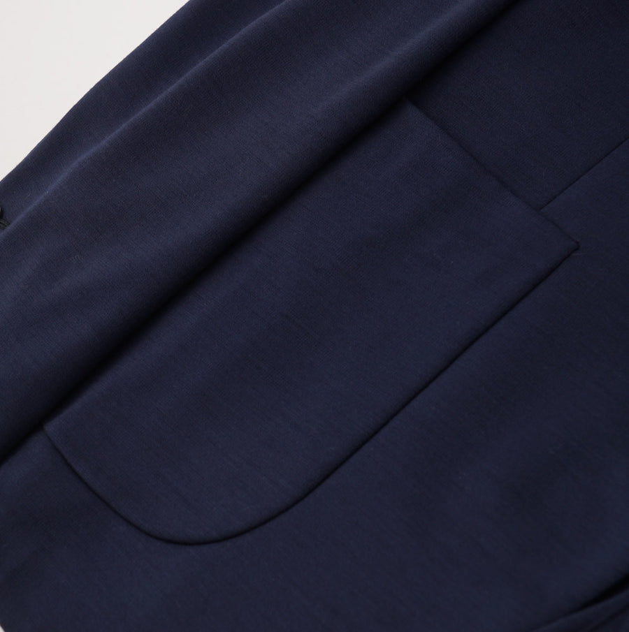 Belvest Navy Blue Jersey Wool Sport Coat