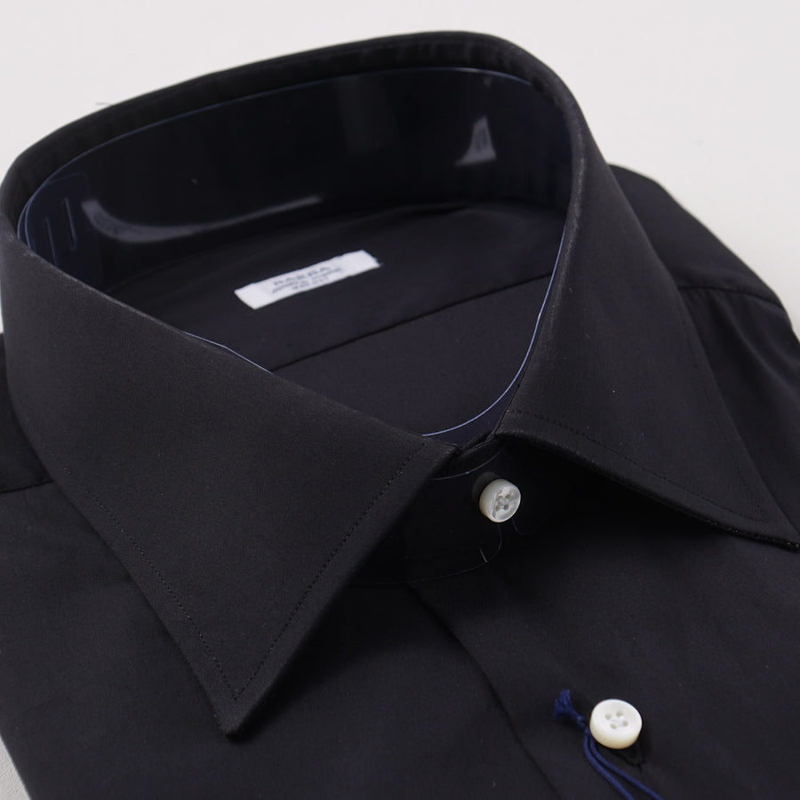 Barba Cotton Shirt in Solid Black - Top Shelf Apparel