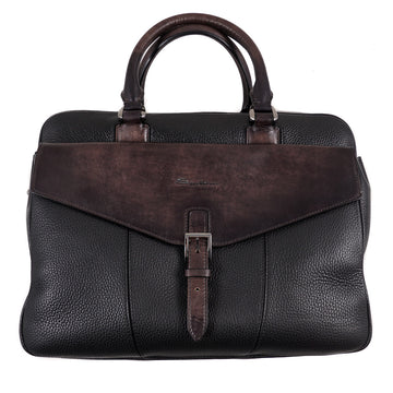 Santoni Patina Leather Overnight Bag