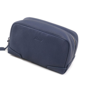 Brioni Slate Blue Leather Toiletry Bag