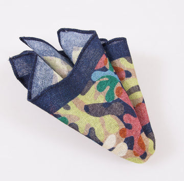 Battisti Multicolor Camo Wool Pocket Square - Top Shelf Apparel - 1
