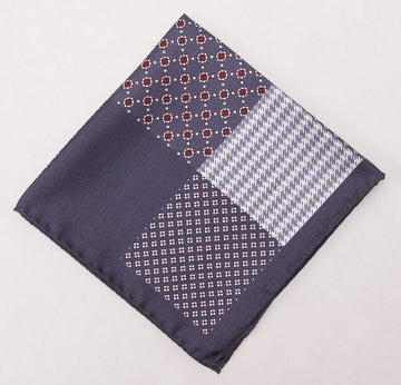 Battisti Charcoal Multi-Print Pocket Square - Top Shelf Apparel - 1