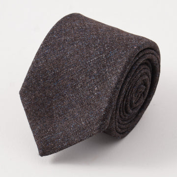 Battisti Napoli Brown-Blue Melange Wool Tie