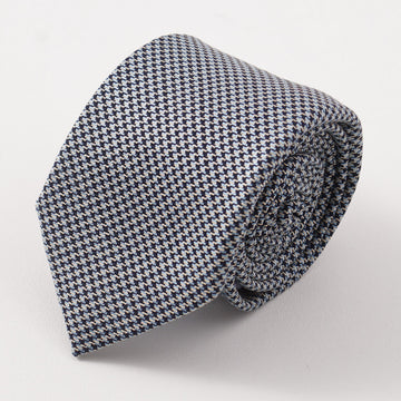 Battisti Napoli Houndstooth Check Wool Tie