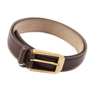 Brioni Textured Brown Leather Belt