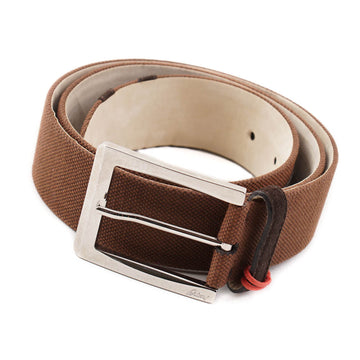 Brioni Brown Canvas and Leather Belt